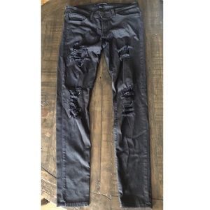 Flying Monkey mid-rise destructed skinny